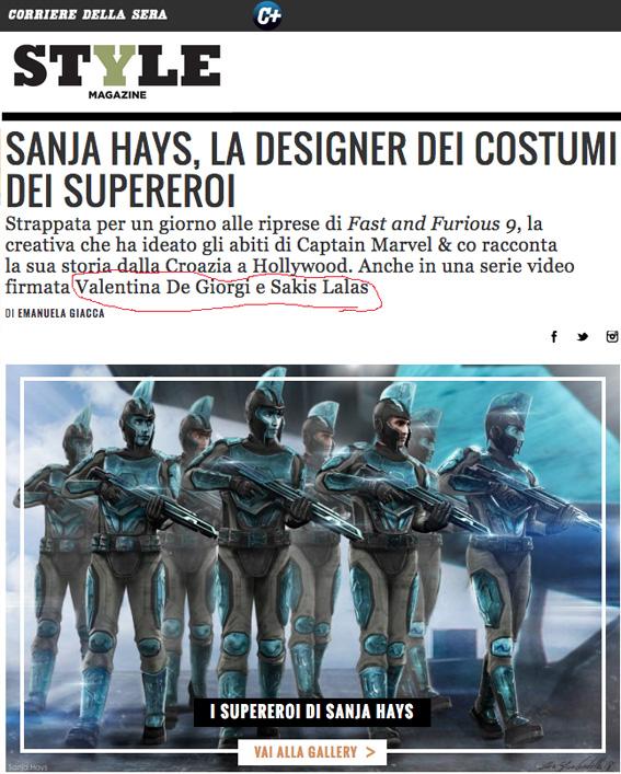 Style Corriere della sera Sanja Hays TheDarkCandy
